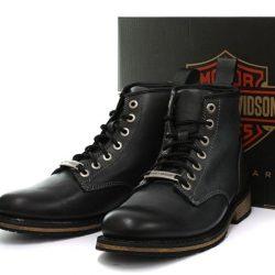 Botines HARLEY-DAVIDSON JOSHUA negro moto cuero piel