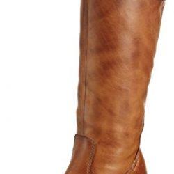 Botas de cuero para mujer con tacón de vaquero de 5 cm