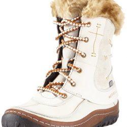 Botas de nieve de cuero para mujer