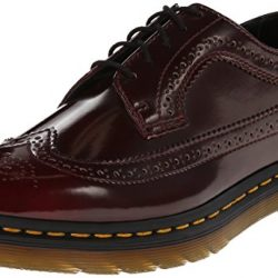 Zapato brogue de cuero mujer Dr. Martens 3989 Cambridge Rub Off CHERRY