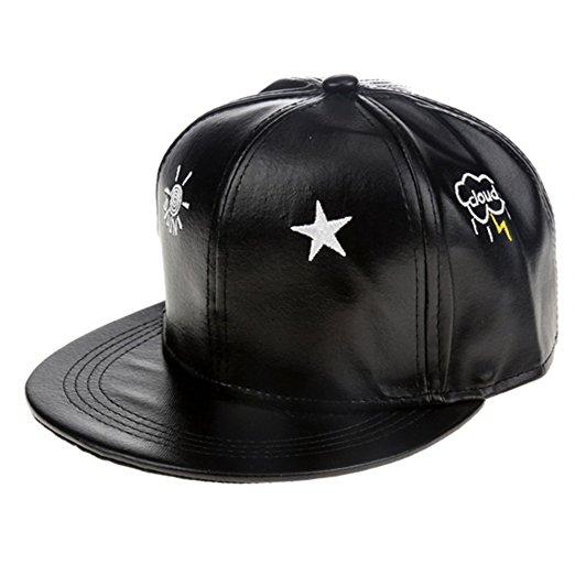 Gorra de cuero de estilo Hip-hop unisex